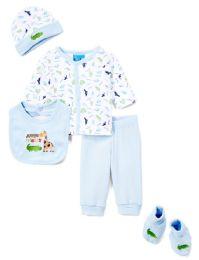 "24 Units of Newborn Boy's ""jungle Friends"" Set - Animal Prints - Sizes 0-9m - Newborn Boys Apparel"