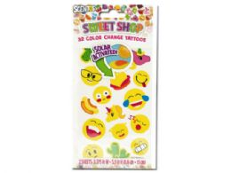 144 Units of Scentos Sweet Shop Color Change Tattoos - Tattoos and Stickers