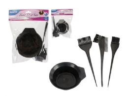 72 Units of 4 Piece Hair Dye Set - Hair Accessories