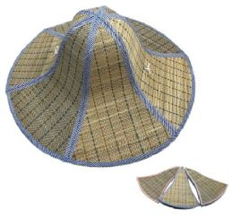 36 Units of Foldable Straw Hat 18 Inches - Sun Hats