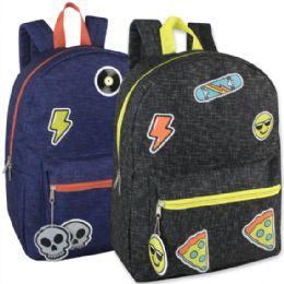 "24 Units of 16.5 Inches Kids Backpack With Bonus Key Chain - Backpacks 16"""