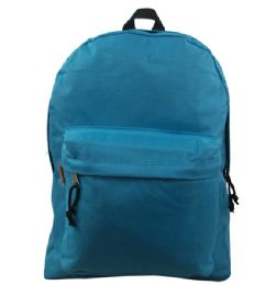 """40 Units of 16"""" Simple Classic Backpack In Sky Blue - Backpacks 16"""""""