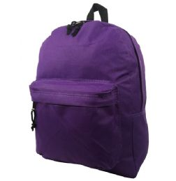 """40 Units of 16"""" Simple Classic Backpack In Purple - Backpacks 16"""""""