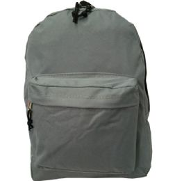 """40 Units of 16"""" Simple Classic Backpack In Grey - Backpacks 16"""""""
