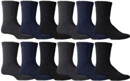 24 Units of Yacht & Smith Men's Winter Thermal Tube Socks Size 10-13 - Mens Thermal Sock