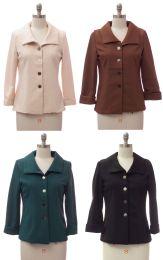 24 Units of Women's Wide Collar Blazer - Women's Winter Jackets