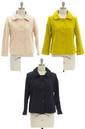 18 Units of Women's Button Down Cropped Blazer Jacket - Women's Winter Jackets