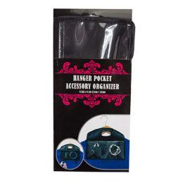 24 Bulk Accessory Organizer Travel Hanger Pocket Sleeve Card Black