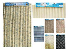 48 Units of Non Slip Floor And Bath Mat Assorted Designs - Bath Mats