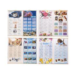 96 Bulk Calendar Scroll Wall 2019/2020 2 Sided 12.5x22 Inches