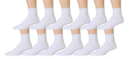 3600 of Yacht & Smith Men's Cotton Sport Ankle Socks Size 10-13 Solid White