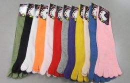 60 of Womens Solid Color Toe Socks