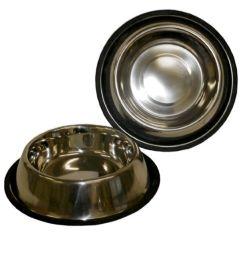 48 Units of 32 Oz Ss Pet Bowl Anti Skid - Pet Accessories