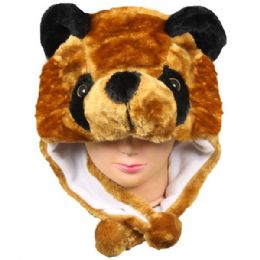 24 Units of Soft Plush Bear Animal Character Earmuff Hat - Winter Animal Hats