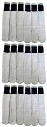 18 Bulk 18 Pairs Of Wholesale Mens Full Cushion Thermal Tube Socks, Cold Resistant (9-11)