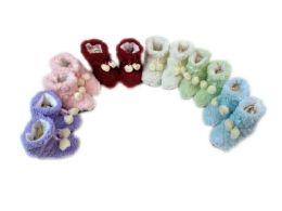150 of Girls Slipper Boots With Pom Pom