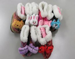 60 of Girls Animal Slipper Boots With Fur Cuff