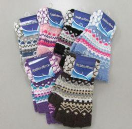 72 Units of Ladies Half Finger Glove - Winter Gloves