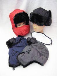 36 Bulk Mens Faux Fur Winter Pilot Hat