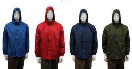 24 Units of Men's Wind Breaker Jacket - (assorted Colors) - Men's Winter Jackets