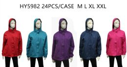 24 Units of Ladies Wind Breaker Jacket - (assorted Colors) - Men's Winter Jackets