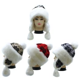 12 Bulk Winter Fashion Fur Hat