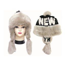 12 Bulk Winter Fashion Ladies New York Fur Hat