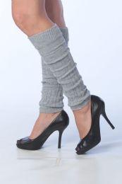 120 Units of Womens Thick Heavy Legwarmers In Gray - Arm & Leg Warmers