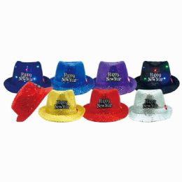 48 Units of Happy New Year Led Hat - New Years