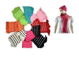 24 Units of Cozy Scarf Hat Set With Knitted Design - Womens Camisoles & Tank Tops