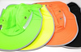 36 Wholesale Assorted Colors Reflective Fishing Hat