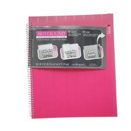 72 Units of Spiral 1-Subject Notebook With 2 Pockets - School Supplies