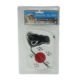 36 Units of Retractable Dog Leash With Reflector - Pet Accessories
