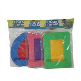 96 Units of Multicolored Foam Picture Frame - Picture Frames