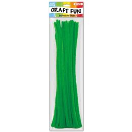 144 of Forty Count Tinsel Stems Green