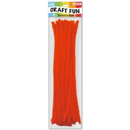 144 of Forty Count Tinsel Stems Orange