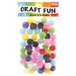 144 Bulk Fuzzy Ball Craft Fifty Pack