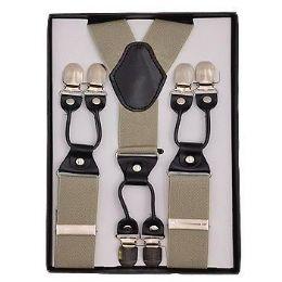 24 Units of Solid Suspenders Khaki - Suspenders