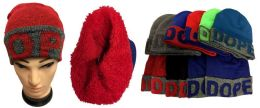 "12 Units of ""dope"" Plush Lining Winter Hat - Winter Beanie Hats"