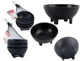 48 Units of 3 Pieces Salsa Bowls - Plastic Bowls and Plates