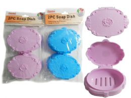 24 Units of 2 Piece Soap Dishes - Soap Dishes & Soap Dispensers