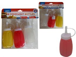 96 Units of 3pc Multipurpose Squeeze Bottles - Kitchen Gadgets & Tools