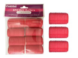 96 Units of 8pc Cling + Foam Hair Rollers - Hair Rollers