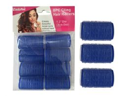 96 Units of 8 Piece Cling Hair Rollers - Hair Rollers