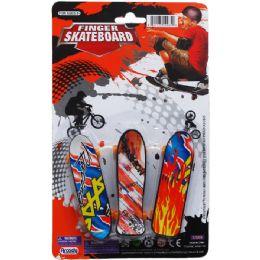 144 Bulk Finger Mini Skateboard On Blister Card