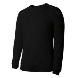60 Units of Long Sleeves Black T Shirts - Mens Thermals