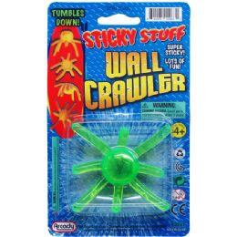 72 Units of Sticky Wall Crawler On Blister Card - Novelty Toys