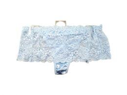 60 Bulk Light Blue Stretch Lace Underwear Thong Size 7