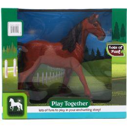 12 Units of Brown Horse Play Set In Window Box - Magic & Joke Toys