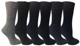 36 Bulk Wool Socks For Women, Hunting Hiking Backpacking Thermal Boot Socks
